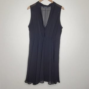 Fashion to Figure Black Sheer Button Snap Dress